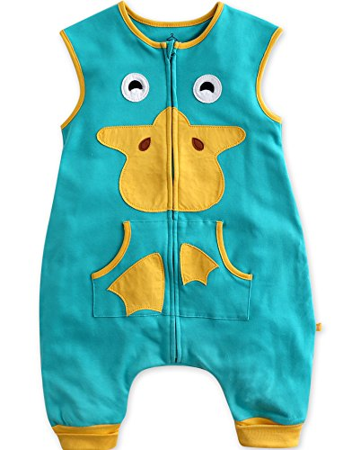 Vaenait baby Toddler Kids 1-7Y Sleep and Play Wearable Blanket Sleeper Sleep Ducky L