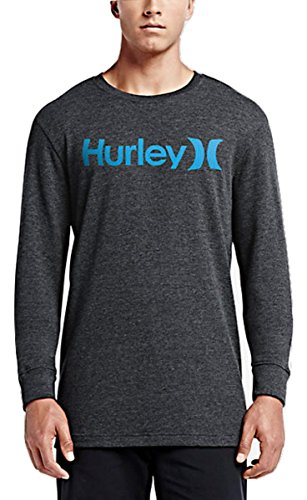 Hurley MTH0000540 Mens One & Only Thermal Long Sleeve Shirt, Hbk & Blk - (Hurley Thermal Shirt)