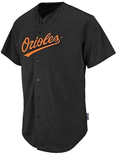 Majestic Baltimore Orioles Cooperstown Collection Two Button Dri Fit Jersey T-Shirt