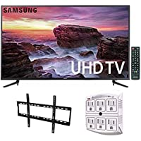 Samsung UN58MU6100 - 58-inch Smart MU6100 Series LED 4K UHD TV w/ Wi-Fi + Wall Mount Bundle Includes, Low Profile Flat TV Wall Mount 50inch-80 inch & SurgePro 6-Outlet Surge Adapter w/ Night Light