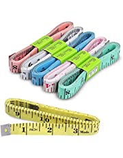 6Pcs Measuring Tape for Body, Double-Sided Body Measurement Tape, Tape Measure Body for Cloth Measuring or Sewing Tailor Fabric Tape Measure, 60 Inch/150cm Tape Measure Cloth for Sewing Craft