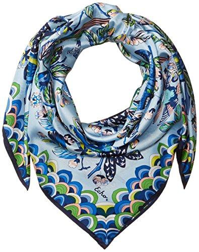 Echo Silk Scarf - Echo Women's Flight of Fancy Silk Square Scarf, Blue Bell, One Size