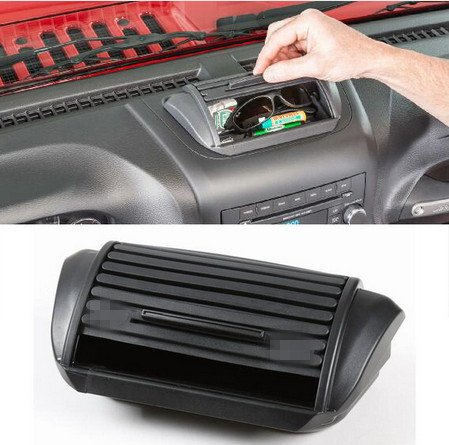 Highitem Console Roll Top Dash Storage Box Vertically Driven Products Holder ABS For Jeep Wrangler & Unlimited jk 2012-2017 Up