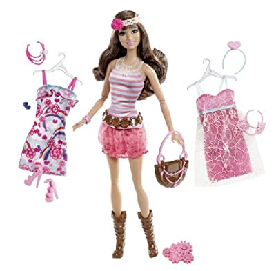 Barbie Fashionistas Teresa Ultimate Wardrobe Boho Chic Doll from Mattel