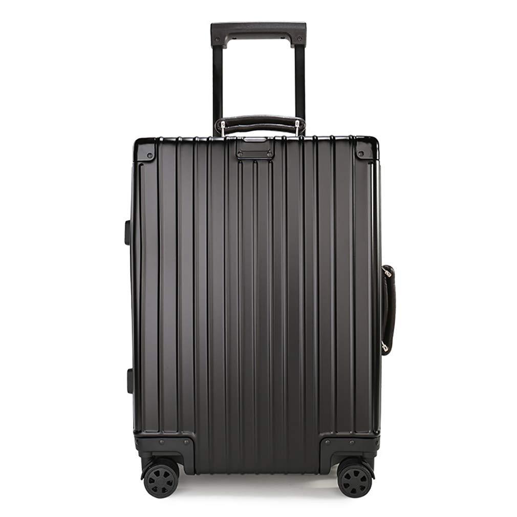 Rayem Fashion Luggage, Universal Wheel Aluminum Frame Trolley case, Ultra-Light and Durable Password Suitcase (Color : Black, Size : 20) by Rayem (Image #1)