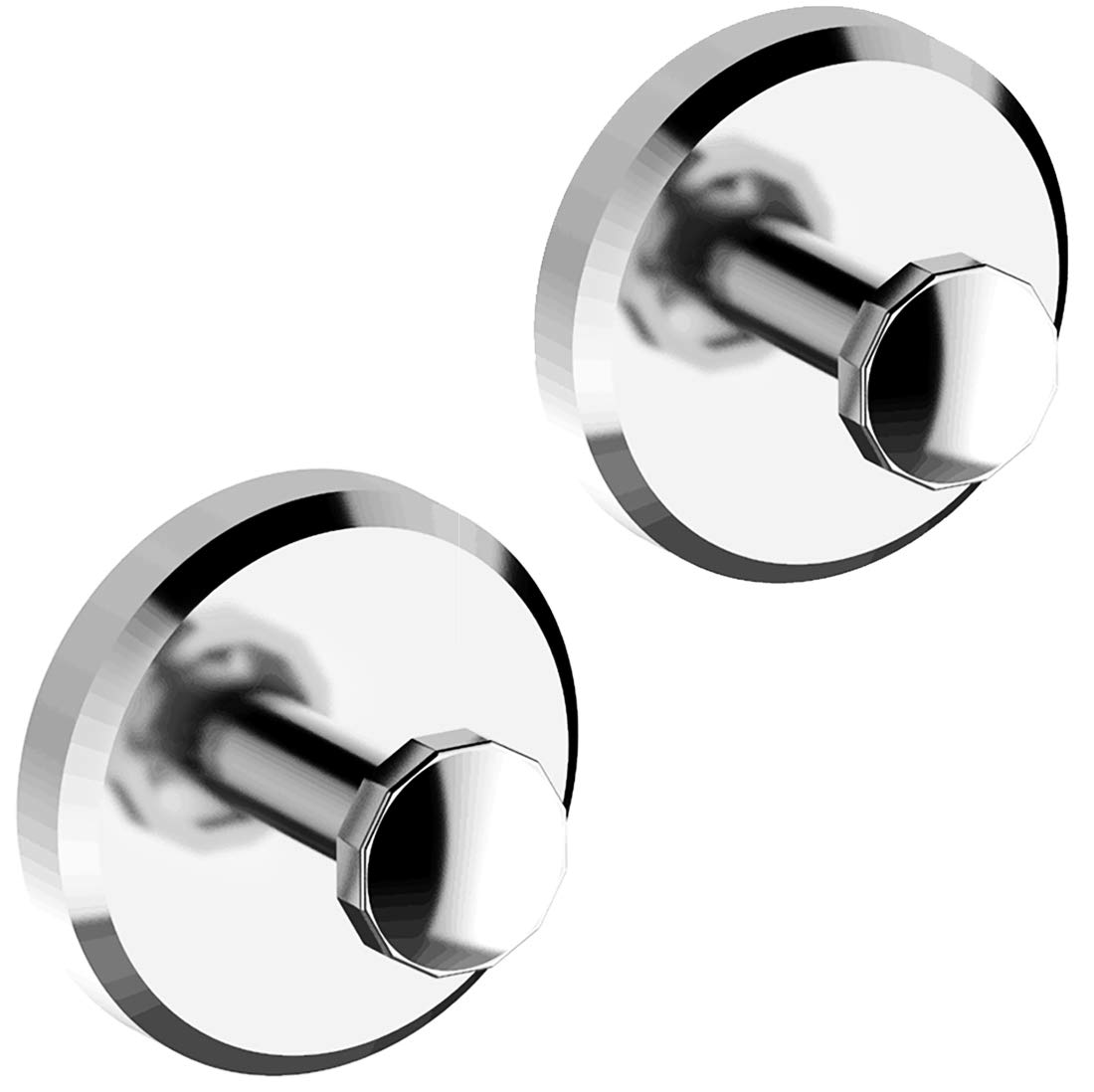HOME SO Bathroom Hook with Suction Cup Holder, Diamond Collection - Removable Shower & Kitchen Hooks Hanger for Towel, Bath Robe, Coat, Loofah (2-Pack)