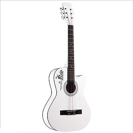 Miiliedy Guitarra acústica folk Guitarra para principiantes de 38 ...