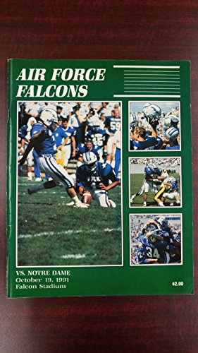 Air Force vs Notre Dame Falcon Stadium Football 1991 Vintage Program J41399