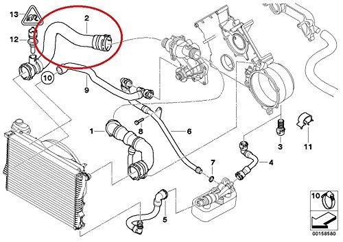 bmw 11 53 7 505 229  radiator coolant hose vehicles parts