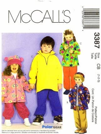 Pull-On Pants /& Hat  Sew Pattern Pullover Top McCall/'s 3387 Childrens/' Jackets