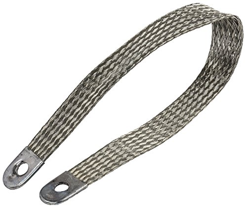 Braided Ground - JEGS Performance Products 10296 Ground Strap Fine Stranded Braided Copper