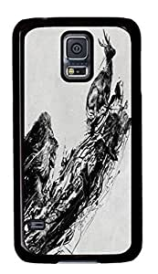 Hard Snap On Case with Abstract Painting Time Is Running Out Printed Back Protective Case Cover for Samsung Galaxy S5