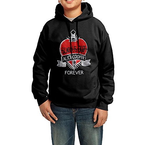 School's Out Alice Cooper Forever Boys Hooded Sweatshirts