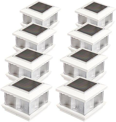(GreenLighting (8 Pack) Solar LED Post Cap Light for 5
