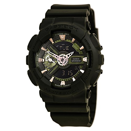 Casio G Shock Green Quartz GMAS110CM 3A