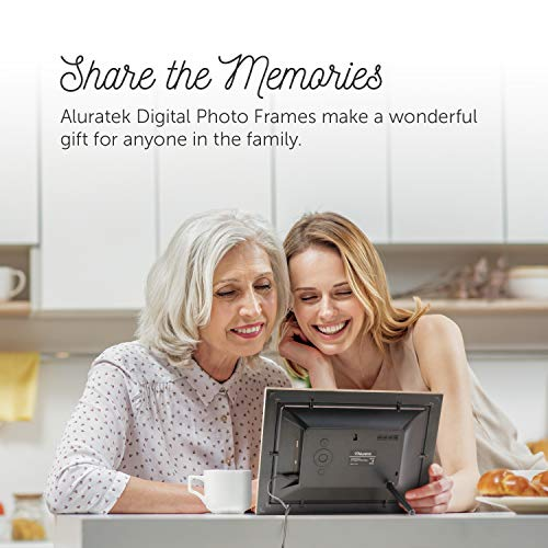 Aluratek (ADPFD10F) 10 inch Digital Photo Frame with Auto Slideshow, Distressed Wood Border, 1024 x 600, 16: 9 Aspect Ratio, Wall Mountable by Aluratek (Image #5)
