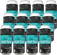 HOPLARK Sparkling HopTea - The Calm One (12 16oz Cans) - Craft Brewed Iced Tea - Organic, Gluten-Free, Non GMO