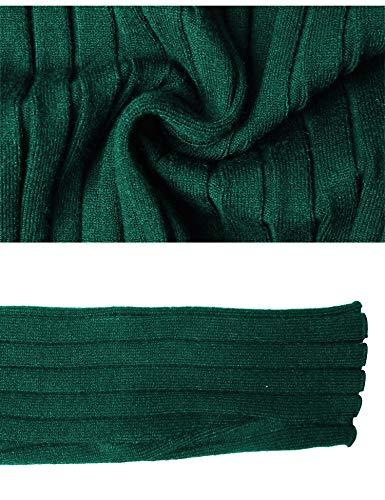Invernali Eleganti collo Lunga Ideale Collo E Regalo Girocollo Caldo Manica A Lungo Dolcevita Verde Donna Maglioni Maglieria Pullover Foresta Vestito Abollria Alto Maglione qtCEEB