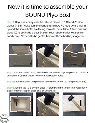 (20/24/30) Bound Plyo Box 3-in-1 Wood Puzzle Plyometric Box - CrossFit Training, MMA, or Plyometric Agility - Jump Box, Plyobox, Plyo Box, Plyometric Box, Plyometrics Box by BOUND Plyo Box (Image #5)