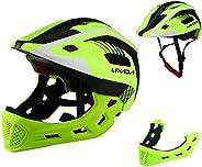 Lixada Kids Bike Helmet Adjustable Detachable Full Face Cycling Helmet Breathable Ultralight Cycling Sports He