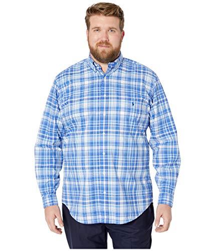Ralph Lauren Men's Dress Shirt Big and Tall Long Sleeve Poplin Stretch Cotton (2X Tall, Mackenzie Blue) (Dress Ralph Shirts Lauren Mens)