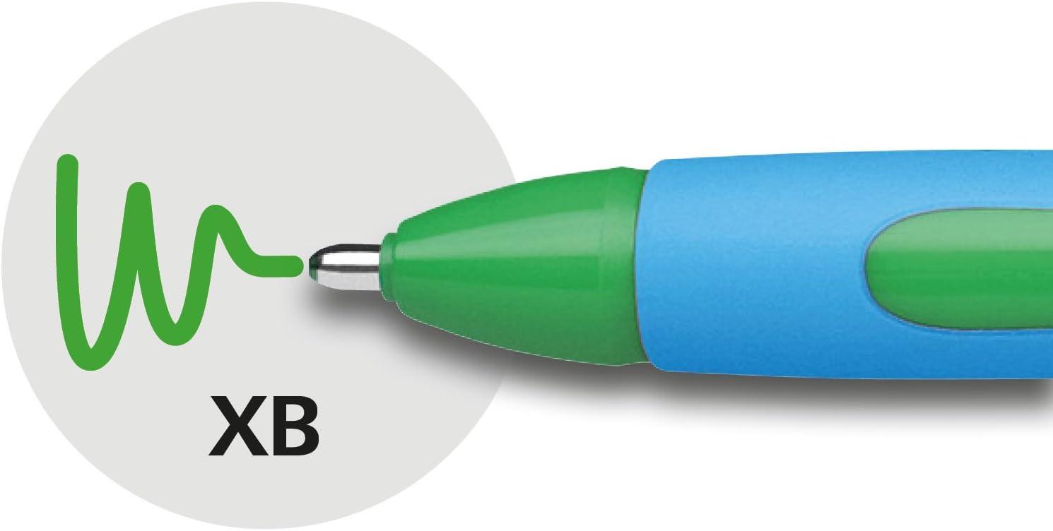 150204 SCHNEIDER BALLPOINT PEN SLIDER MEMO XB GREEN 2PC//PACK