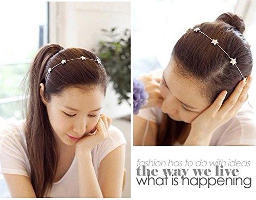 Generic日本と韓国美しいファッションミニマリストスタイルStarラインストーンHeadbangヘアBangヘッドフープヘアバンドヘッドバンドヘアアクセサリーwithジュエリーバックルレディースガールズLady   B01N5NGUO4