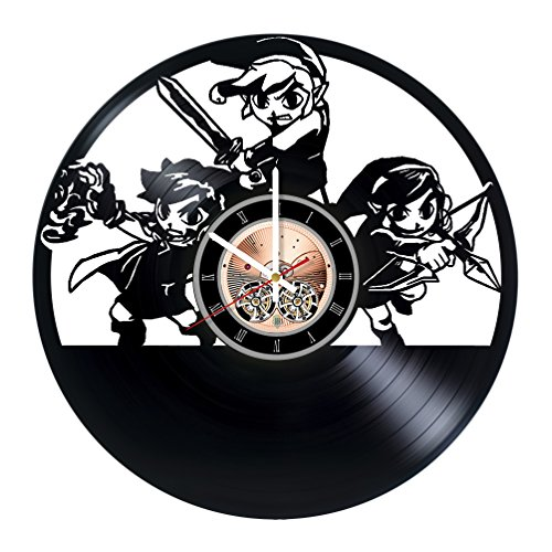 Sheik Costume Legend Of Zelda (Legend of Zelda Vinyl Record Wall Clock - Bedroom wall decor - Gift ideas for boys and girls, teens - Video Game Unique Art Design)