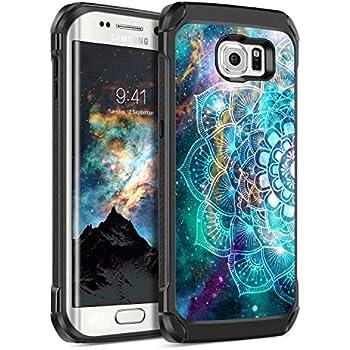 Amazon.com: E LV Case for Galaxy S7 Edge Case Hybrid Armor ...