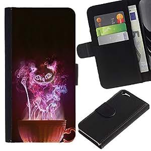 Copa Bruja de Halloween del Mal Misterioso- la tarjeta de Crédito Slots PU Funda de cuero Monedero caso cubierta de piel Para Apple (4.7 inches!!!) iPhone 6 / 6S