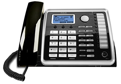 Expandable Corded Business Telephone (RCA 25260 na 1-Handset 2-Line Landline Telephone)