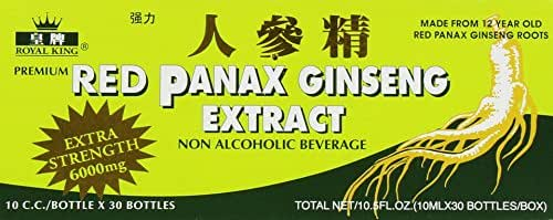 RED PANAX GINSENG EXTRACT 30 BOTTLES (Pack of 6)