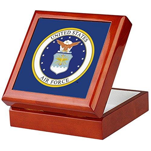 CafePress - Air Force Recognition Gift - Keepsake Box, Finished Hardwood Jewelry Box, Velvet Lined Memento Box