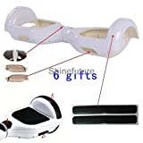 Hoverboard Gold Case Best Deals - Replacement Outer Shell Cover Case Skin for 6.5'' Smart Self Balancing Electric Balance Scooter White Color