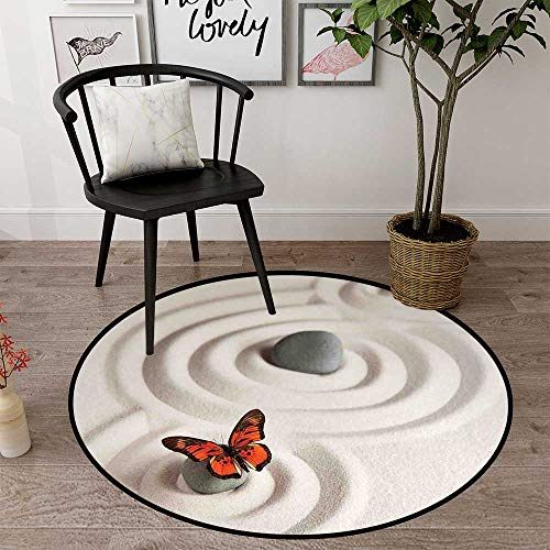 Circle Floor mat Beach Round Indoor Floor mat Entrance Circle Floor mat for Office Chair Wood Floor Circle Floor mat Office Round mat for Living Room Pattern 2' Diameter -