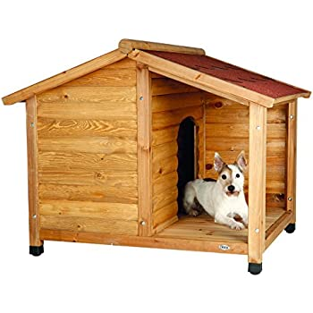 Amazoncom large dog house lodge with porch deck kennels for Trixie dog house insulation