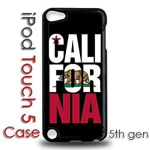 IPod 5 Touch Black Plastic Case - California Cali For Nia