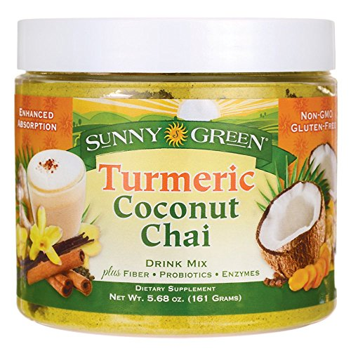 Sunny Green Turmeric Coconut Chai Drink Mix, 5.68 Ounce
