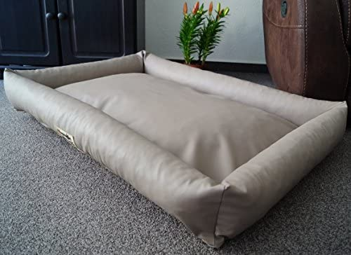 Cama para perros Hundebettenmanufaktur, sofá para dormir, de piel sintética, impecable, color y tamaño a elegir