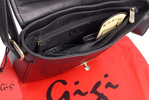 GIGI - OTHELLO 8775 - Bolso con solapa - Cuero Negro