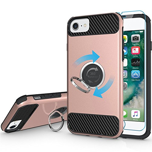 Armor Silicone Hybrid Shockproof back Cover Case PC Bumper For iPhone 7 (Silver) - 8