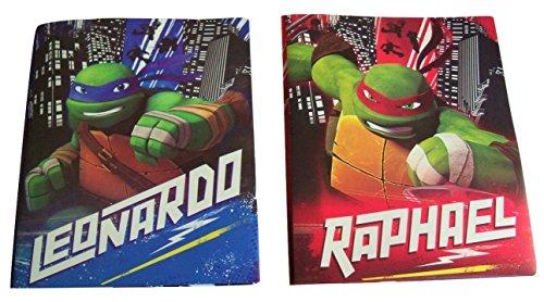 teenage-mutant-ninja-turtles-set-of-2-poly-folders-turtles-of-justice-leonardo-raphael-two-pocket-fo