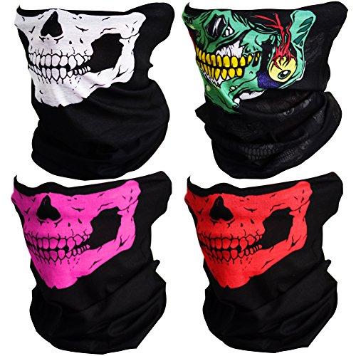 CIKIShield Couples Seamless Skull Face Tube Mask Black