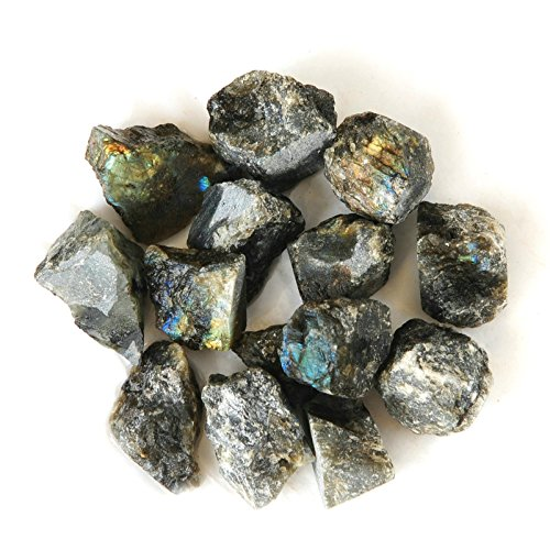 JIC Gem 1″ Rough Bulk Madagascar Materials: 3 LB of Labradorite Natural Crystals Tumbling, Polishing, Wire Wrapping, Wicca and Reiki Crystal Healing