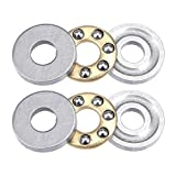 uxcell® F3-8M Miniature Thrust Ball Bearings 3x8x3.5mm Chrome Steel 2-Pack