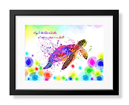 Uhomate Colorful Sea Turtle Sea Turtle Home Canvas Prints Wall Art Baby Gift Inspirational Quotes Wall Decor Living Room Bedroom Bathroom Artwork C056 24X30