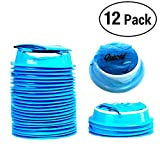This Blue emesis bags can eliminate exposure to vomit, helps eliminate odors on cars, camping and other public places, handy for use with kids and pets, too, convenient closure system - twist, and secure bag into notched ring.   This package vomit ba...