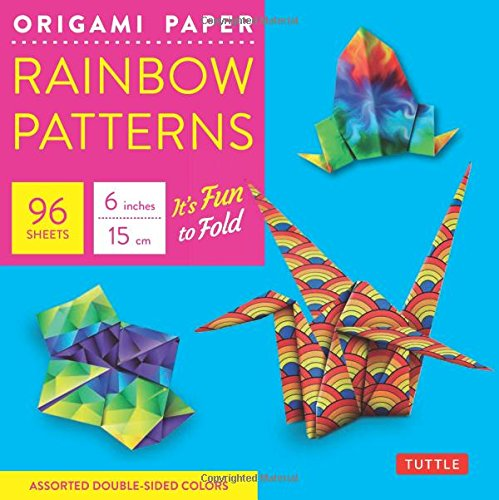 Origami Paper - Rainbow Patterns - 6