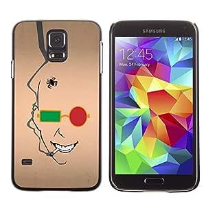 TECHCASE**Cubierta de la caja de protección la piel dura para el ** Samsung Galaxy S5 SM-G900 ** Abstract Face