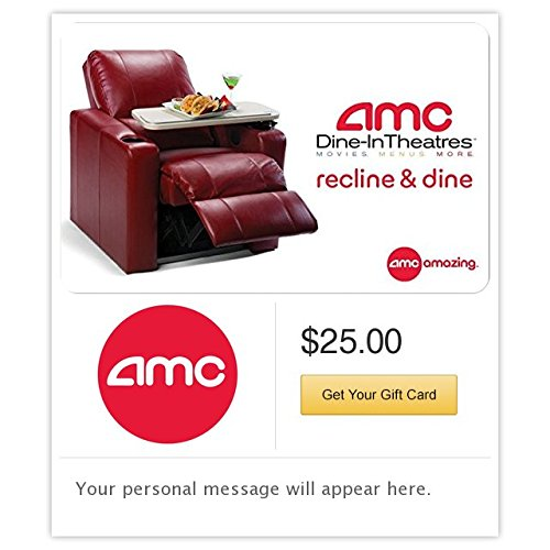 (AMC Theatres Dine In Gift Cards - E-mail Delivery)